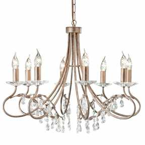 Люстра Elstead Lighting CRT8 SILVER/GOLD CHRISTINA