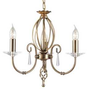 Люстра Elstead Lighting AG3 AGED BRASS AEGEAN